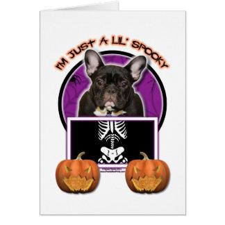 Halloween - apenas un Lil fantasmagórico - Tarjeta De Felicitación