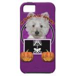 Halloween - apenas un Lil fantasmagórico - Westie  iPhone 5 Case-Mate Fundas