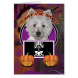 Halloween - apenas un Lil fantasmagórico - Westie Tarjeta De Felicitación