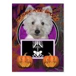 Halloween - apenas un Lil fantasmagórico - Westie Postal