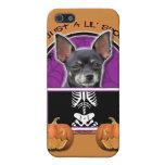 Halloween - apenas una chihuahua fantasmagórica de iPhone 5 protector
