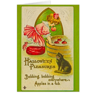 Halloween Apple Bobbing Card