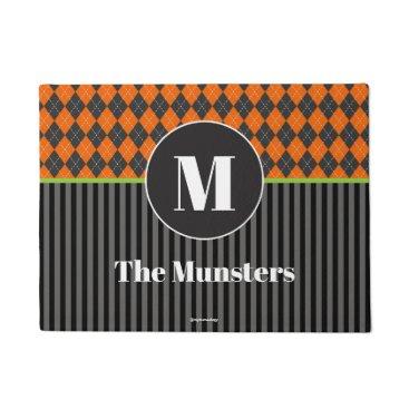 Halloween Themed Halloween Argyle Monogram Doormat