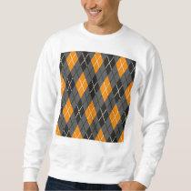 Halloween Argyle Orange and Grey Pattern Sweatshirt