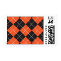 Halloween Argyle Print Stamps stamp