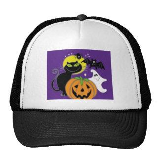 Halloween art design trucker hat