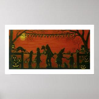 """Halloween Art poster """"Happy Halloween"""""""
