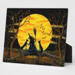 """Halloween Art Print """"Patience,Halloween Nears"""" Plaque"""