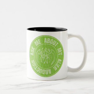 Halloween Ask me About my Alien Abduction Two-Tone Coffee Mug