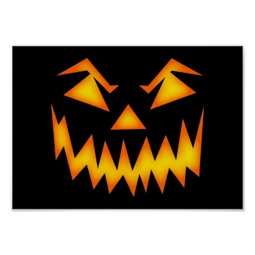 Halloween asustadizo hace frente impresiones