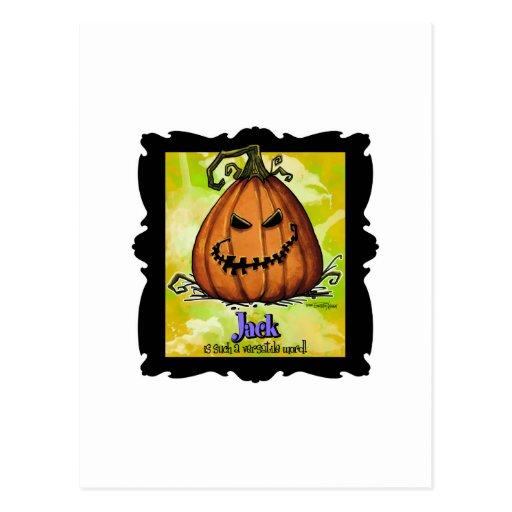 Halloween asustadizo Jackolatern Postal