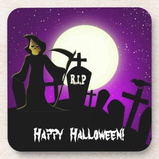 Halloween asustadizo posavasos
