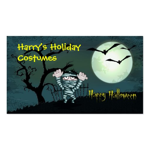 Halloween asustadizo tarjeta de negocio