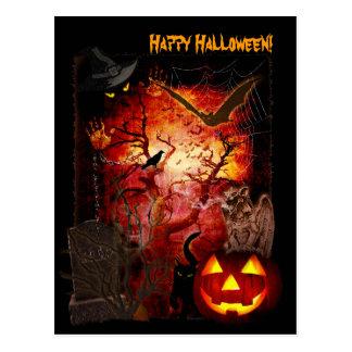 Halloween asustadizo tarjetas postales