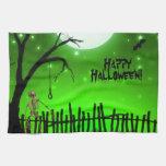 Halloween asustadizo toalla de cocina