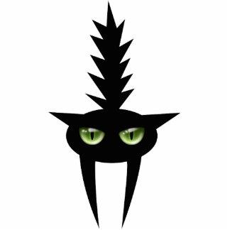 Halloween asustó la decoración del gato negro esculturas fotográficas