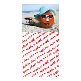 Halloween At The Beach Card