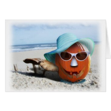 Beach Themed Halloween At The Beach Card