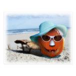Halloween At The Beach Postcard