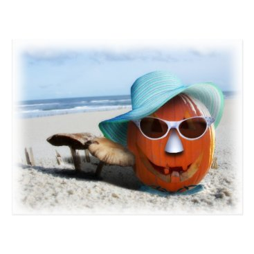Beach Themed Halloween At The Beach Postcard
