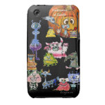 Halloween at Zazzle- Cartoon Monsters iPhone 3 Case-Mate Cases