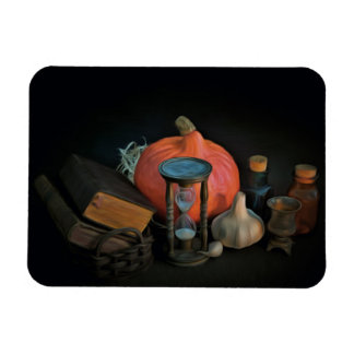 Halloween attributes of witch magnet