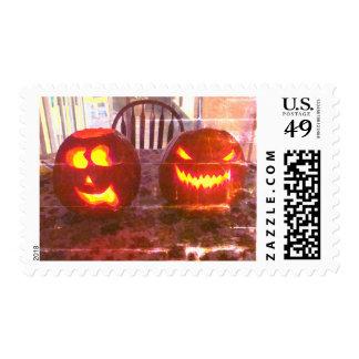 Halloween Autumn Pumpkin Postage Stamp