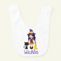 Halloween Baby Bib Cute Witch Witchlet Baby Gift