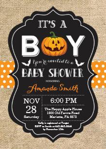 Halloween Baby Shower Ideas Boy.Halloween Baby Shower Invitations Zazzle