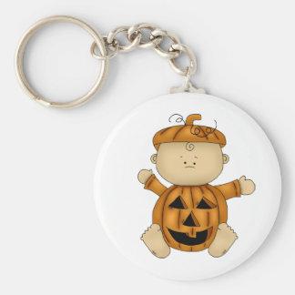 HALLOWEEN BABY design Basic Round Button Keychain