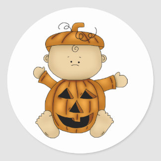 HALLOWEEN BABY design Classic Round Sticker