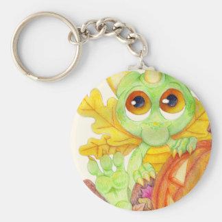 Halloween Baby Dragon Fairy Pumpkin Jack O Lantern Keychain