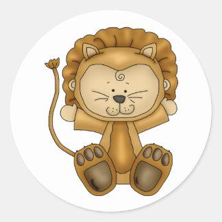Halloween baby lion round sticker