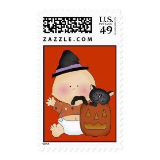 Halloween Baby Postage Stamp