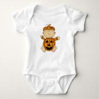 halloween baby pumpkin baby bodysuit