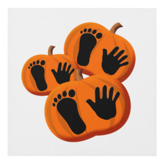 Halloween Baby Pumpkin Prints Panel Wall Art
