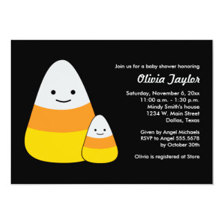 Halloween Baby Shower Candy Corn Invitations