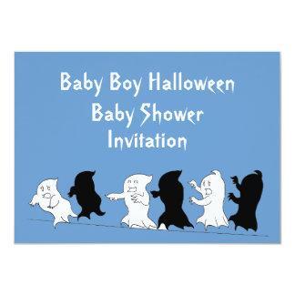 Halloween Baby Shower Ghost Invitations - Boy