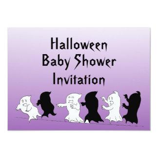 Halloween Baby Shower Ghost Invitations - Purple