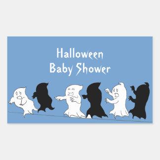 Halloween Baby Shower Ghost Stickers - Boy