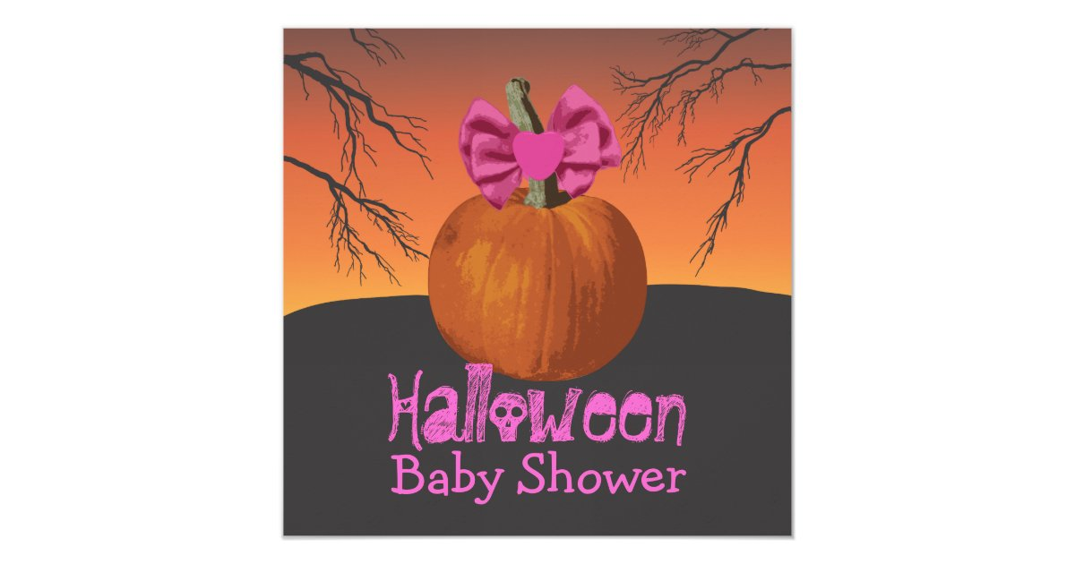 halloween baby shower invites zazzle
