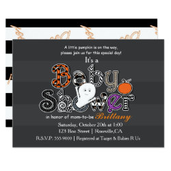 Halloween BABY SHOWER Modern Chic Invitation