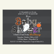 Halloween BABY SHOWER Modern Chic Invitation