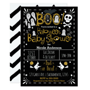 1c7a14f13 Halloween Baby Shower Modern Whimsical Hand Drawn Invitation