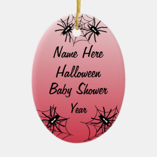 Halloween Baby Shower Oval Ornaments - Red