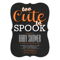 Halloween Baby Shower Party Invitation