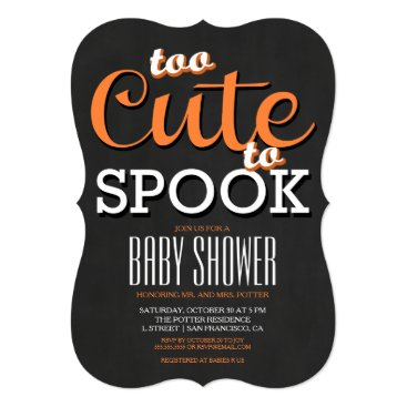 Halloween Themed Halloween Baby Shower Party Invitation