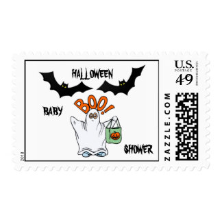 HALLOWEEN BABY SHOWER POSTAGE STAMPS