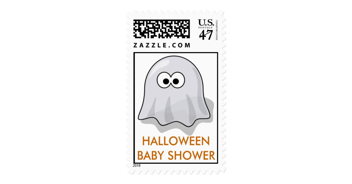 halloween baby shower postage stamps zazzle