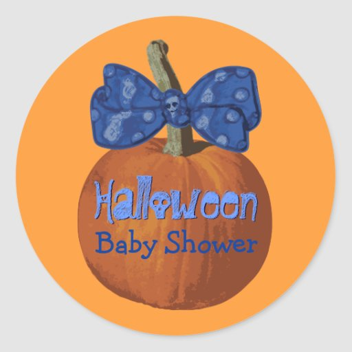 halloween baby shower stickers zazzle
